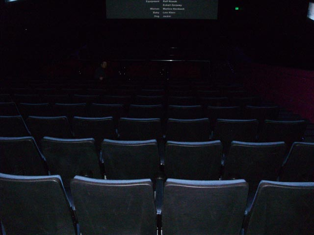 What the theater looked like - empty!